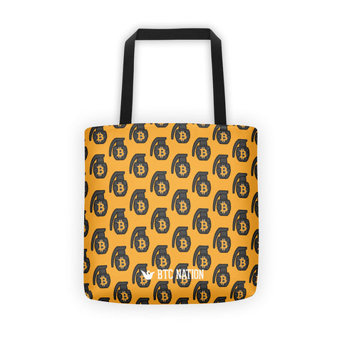 The Yellow BTC Grenade Tote Bag