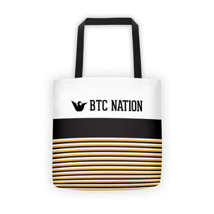 The BTC Stripe Tote Bag
