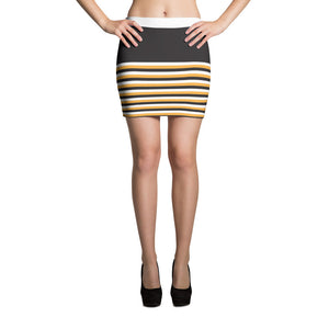 The BTC Stripe Mini Skirt