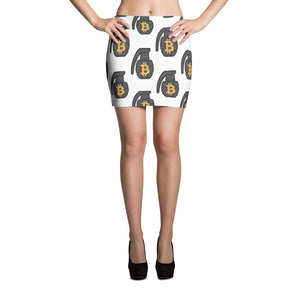 The BTC Grenade Mini Skirt in White