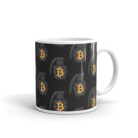 The Black BTC Grenade Mug