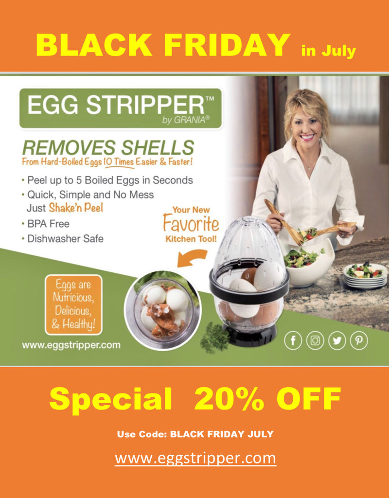 BLACK FRIDAY IN JULY!  20% OFF EGG PEELER, EGG STRIPPER® by GRANIA®!