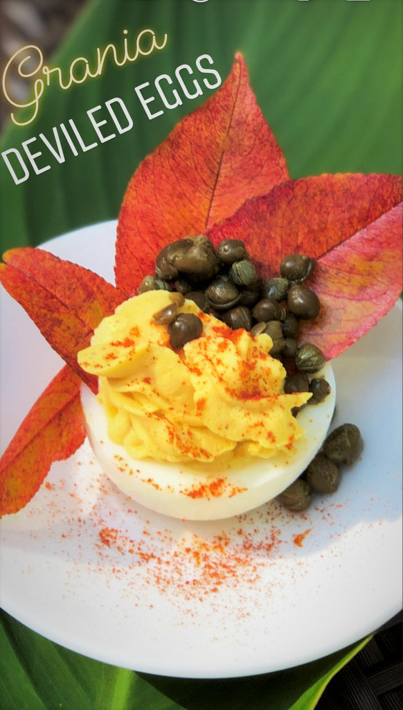Autumn Nutmeg Deviled Eggs-Perfect Fall Hors d'oeuvre