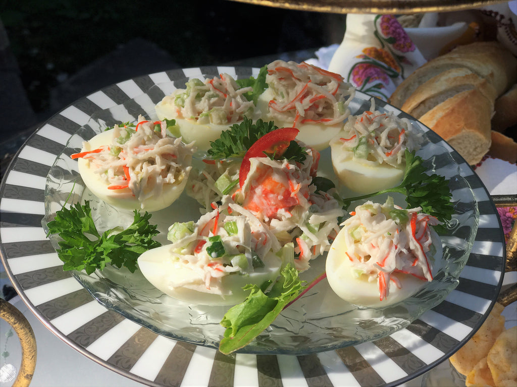 CRAB SALAD DEVILED EGGS