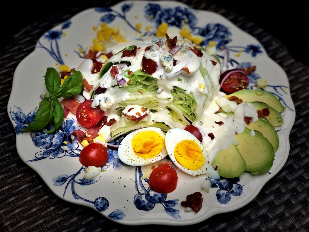 Ania's Iceberg Wedge Salad with Hard Boiled Eggs