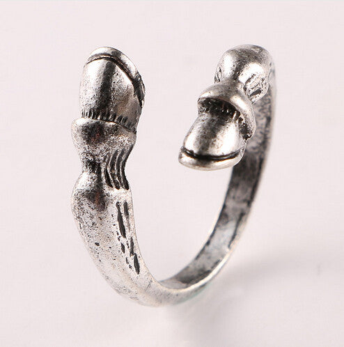 Vintage Horse Resizable Hoof Ring for Men & Women
