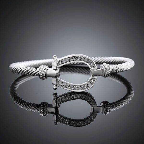 Horseshoe Bangle Bracelet