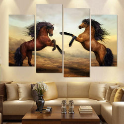 Mustang Horse painting 4 pieces | Horse Boutique
