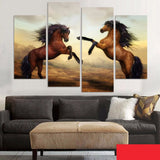 4 Pieces/set Home Decor Horse Painting Unframed