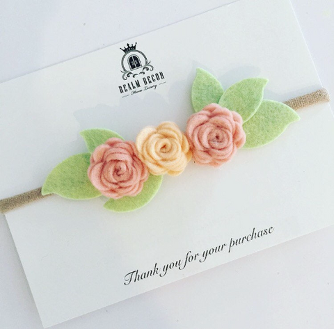 Garden Party Mini Flower Crown Headband