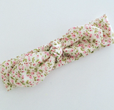 Pink Roses Floral Top Knot Headband