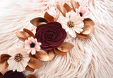 'Autumn Breeze' Metallic Luxe Felt Flower Garland / Milestone Garland