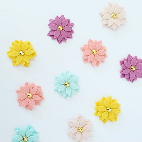 Miss Daisy Pigtail Clip Set - Butter Yellow
