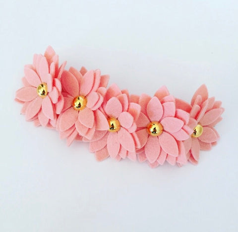 Miss Daisy Flower Headband - French Peach