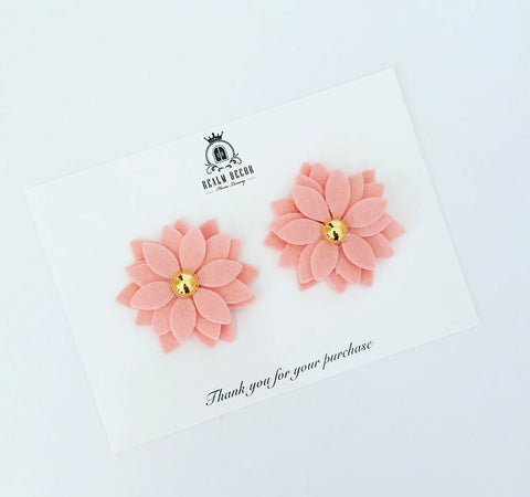 Miss Daisy Pigtail Clip Set - French Peach