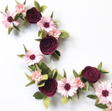 'Berry Delight' Felt Flower Garland / Milestone Garland
