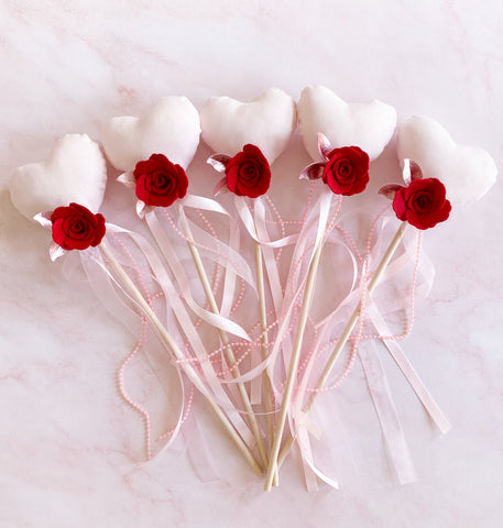 Valentines Heart Wands