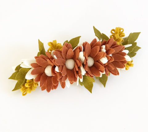 Daisy Posy Felt Flower Crown - Rust