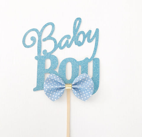 'Baby Boy' Bow Tie Cake Topper