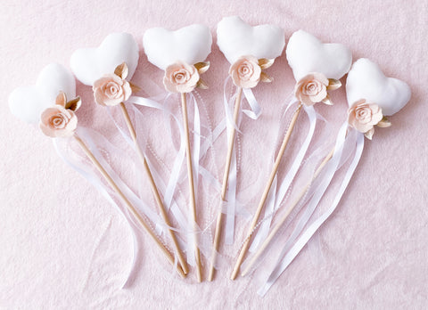 Champagne Luxe - Heart Wands