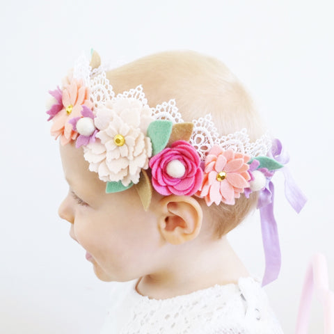 Lace Flower Crown - Spring