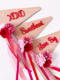 XOXO - Valentines Wooden Red Acrylic Font Flag