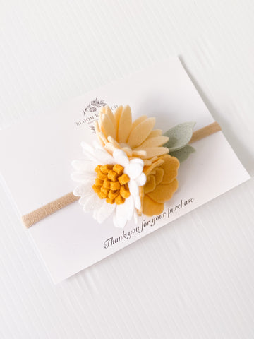 Honey Bee theme Hair Blooms - Headband or Clip