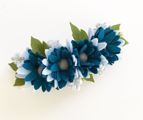 Daisy Posy Felt Flower Crown - Blue Blooms – RealmDecor 46965bfb727