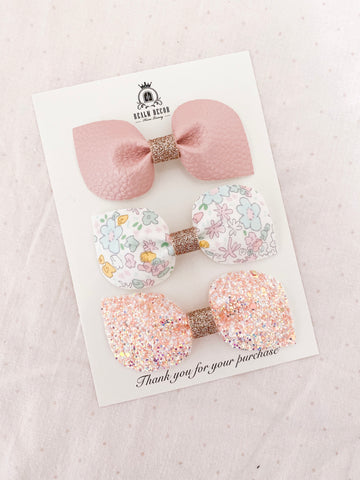 Spring Blooms Bow Trio Set