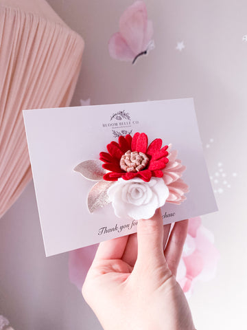 Jolly Blooms - Headband or Clip