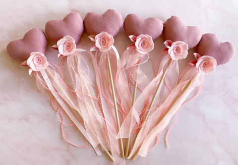 Pink Luxe Heart Wands