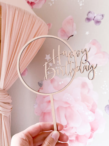 HAPPY BIRTHDAY Round Cake Topper