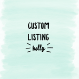 Custom Listing Holly - Hook Cluster