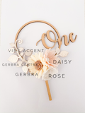 ONE to FIVE Number Round Cake Topper