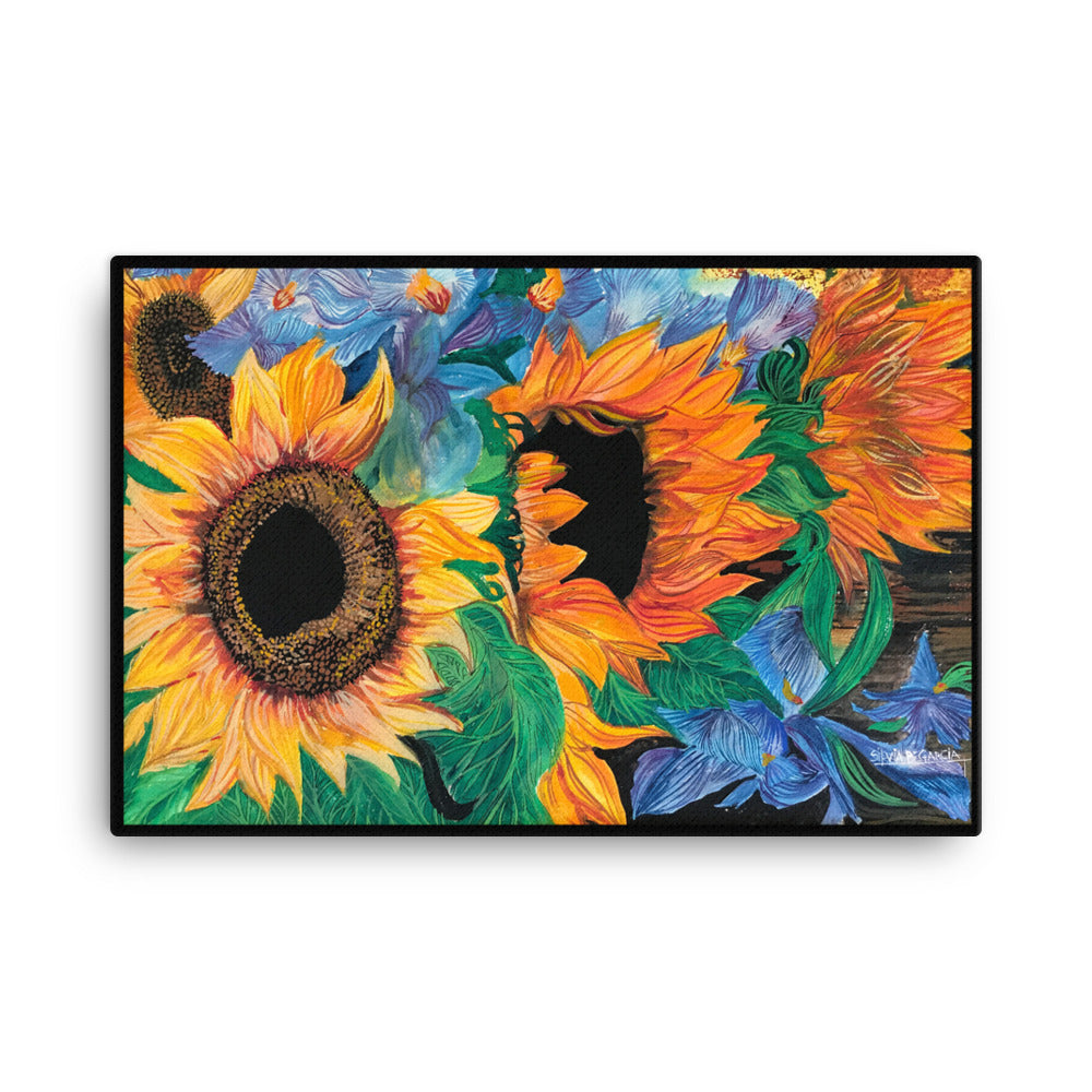 "Girasoles 24""x36"" Canvas Print"