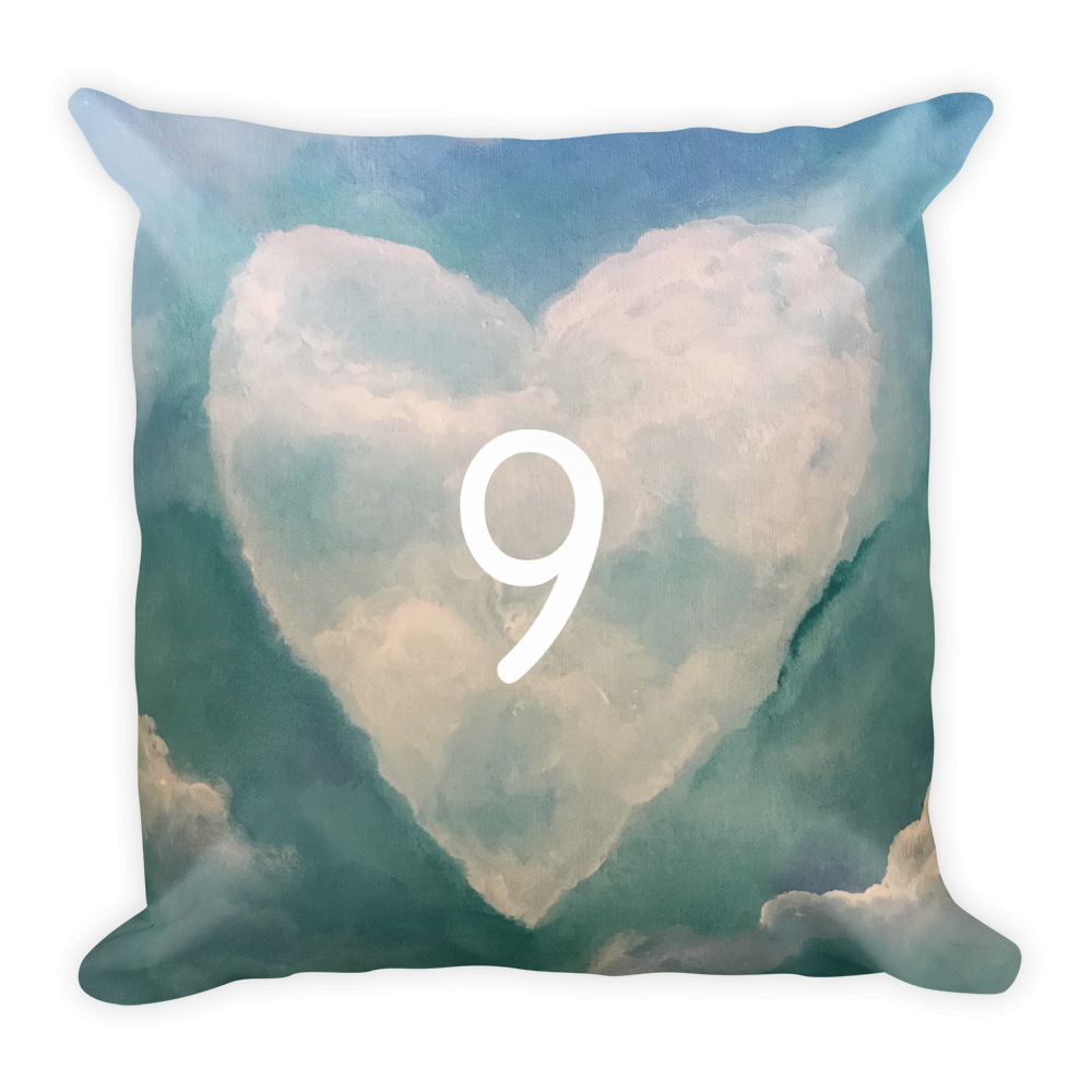 Dreamy Cloud Nine Heart Pillow