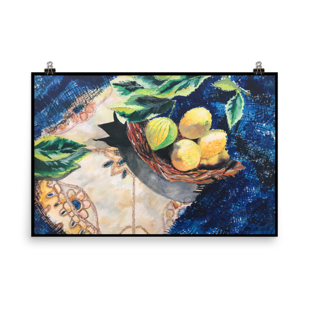 "Lemon Basket 24""x36"" Poster Print"