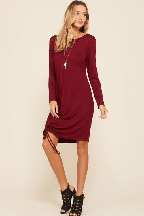Aynara Fashion Long Sleeves Midi Dress