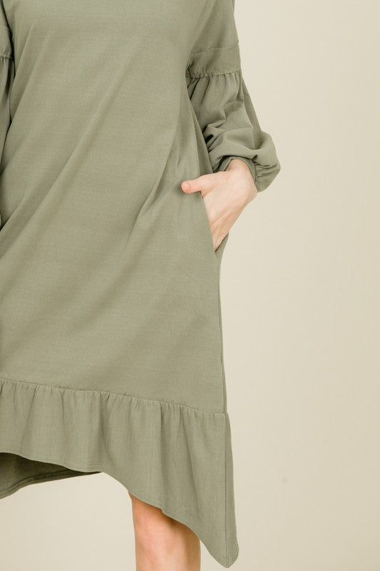 Aynara Fashion Asymmetrical Dress w Pockets