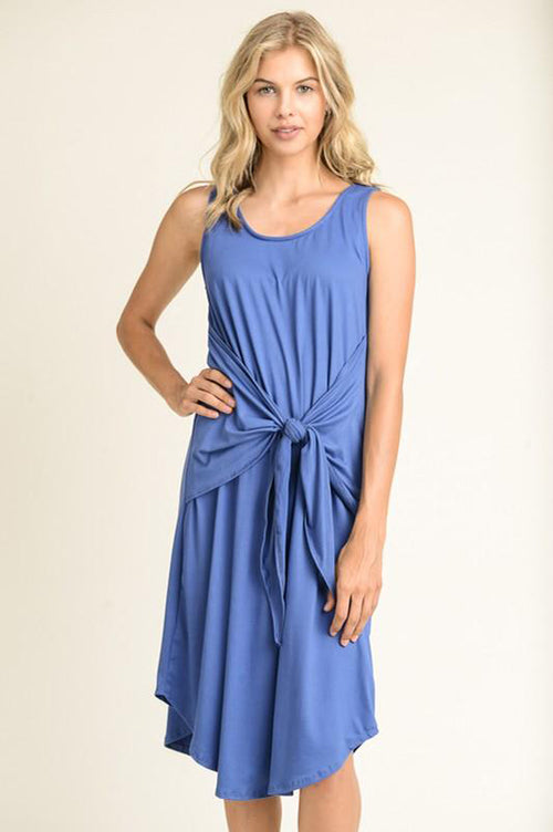 Self Tie Midi Dress