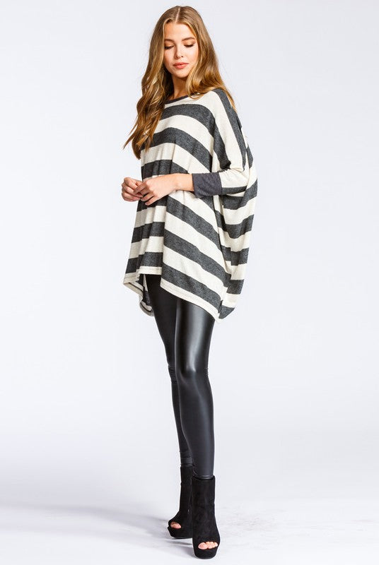 Three quarter length sleeve top