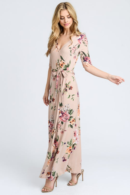 Aynara Fashion Premium Floral Wrap Maxi dress