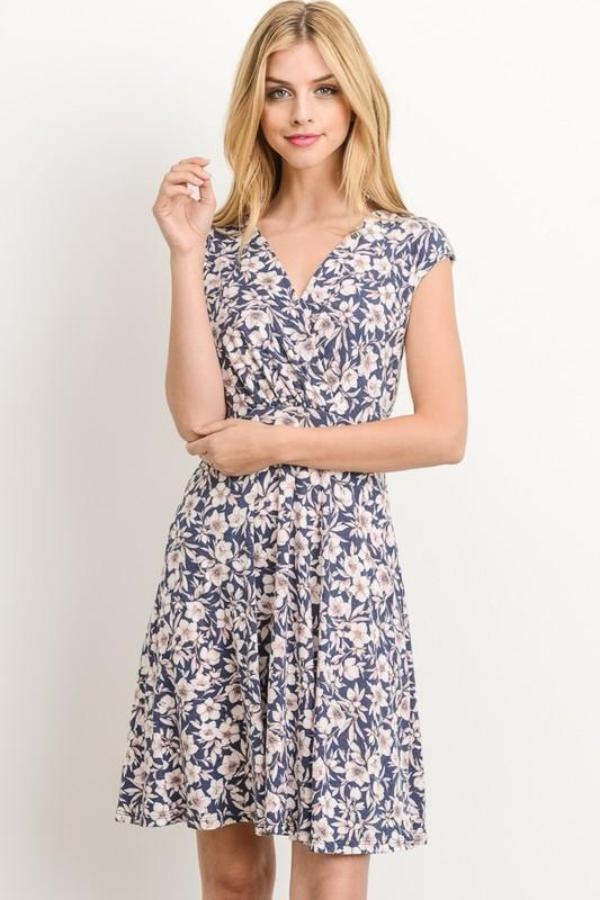 Aynara Fashion Fit and Flare Floral Dress