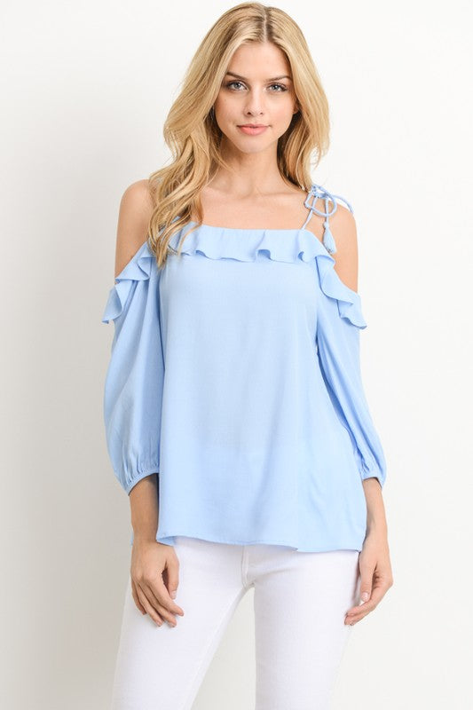 Aynara Fashion Ruffle Off Shoulder Blouse