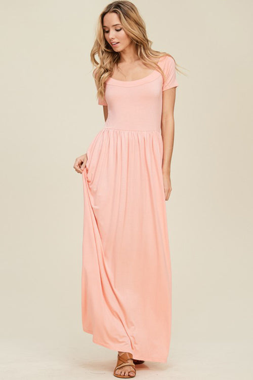 Aynara Fashion Drop Shoulder Empire Resort Maxi Dress