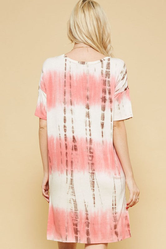 Aynara Fashion Tie-Dye Loose Fit Dress