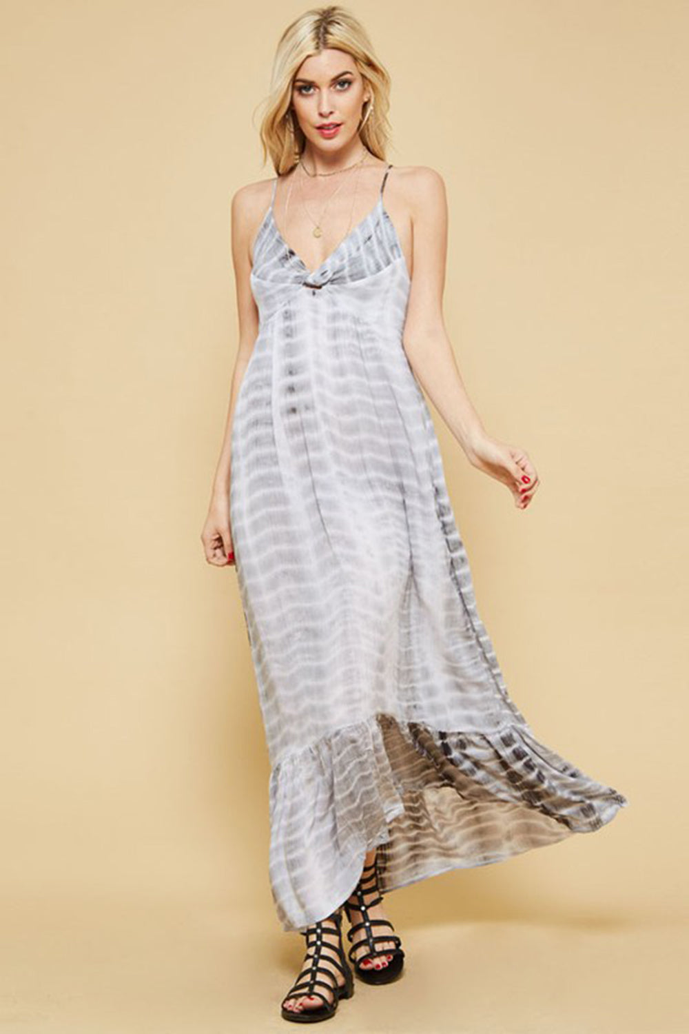 Aynara Fashion Tie-Dye Maxi Dress