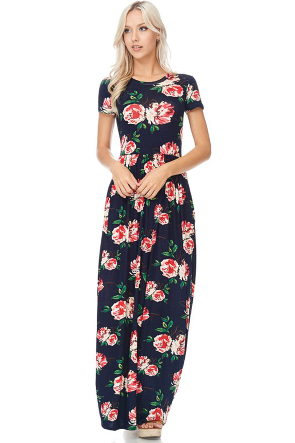 Aynara Fashion Floral Print Maxi Dress