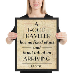 A Good Traveller - Art Print - Lao Tzu Quote Typography Wall Art and Canvas Print