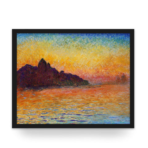 Ahch-To at Dusk - Art Print - Monet Star Wars Parody Wall Art and Canvas Print